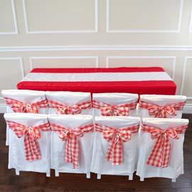 Cloth: Full: Red & White RENT