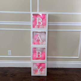 Prop: Baby Box: Clear: Pink RENT