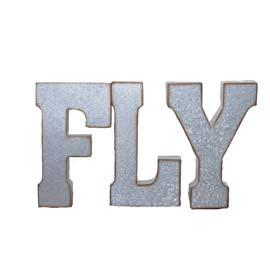 Metal Letter: FLY RENT