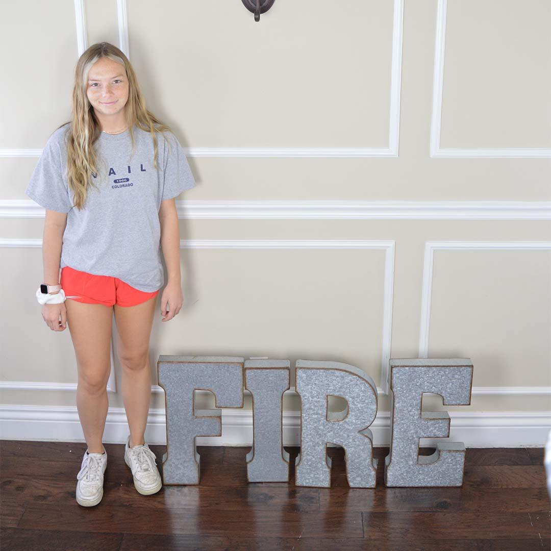 Fire Metal Letters (RENT)