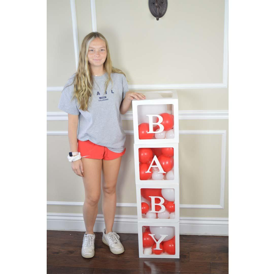 Prop: Baby Box: Clear: Red (RENT)